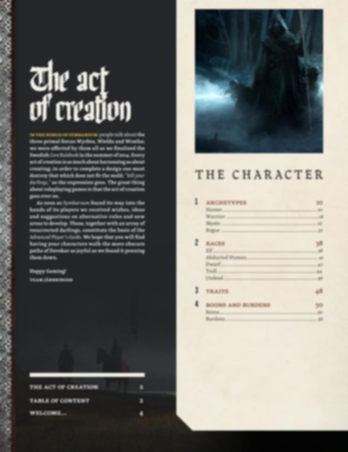 Symbaroum: Advanced Player's Guide manual