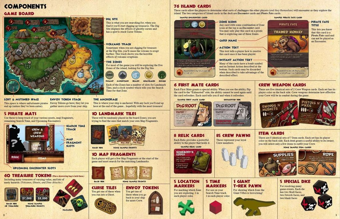 Pirates vs. Dinosaurs manual