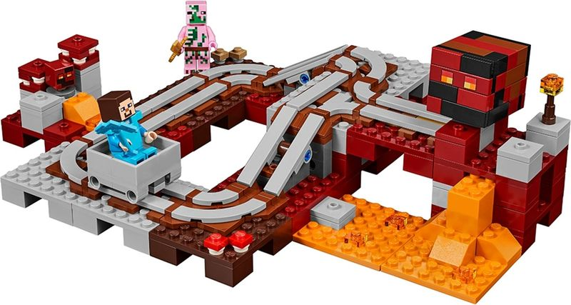 LEGO® Minecraft The Nether Railway components