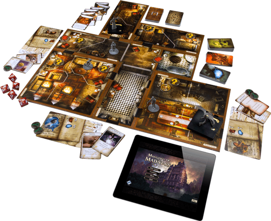 Mansions of Madness: Second Edition components