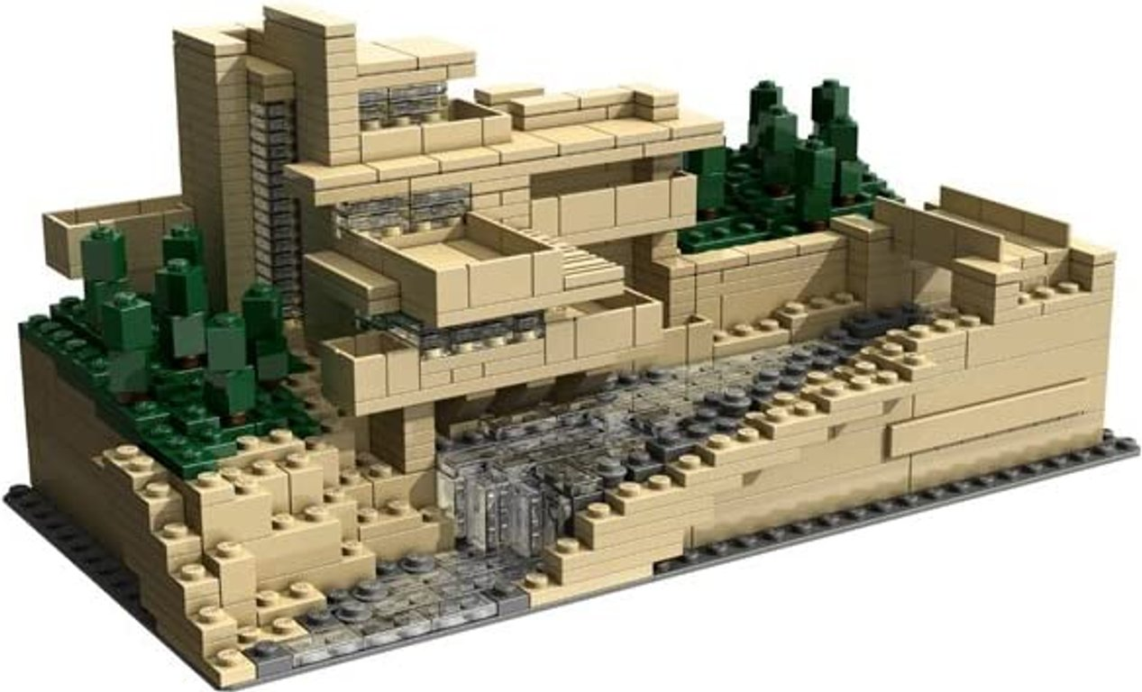 LEGO® Architecture Fallingwater® components