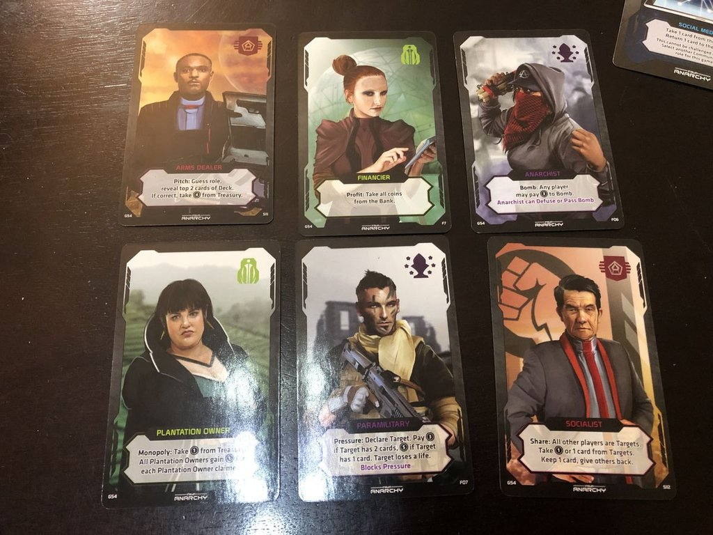Coup: Rebellion G54 - Anarchy cards