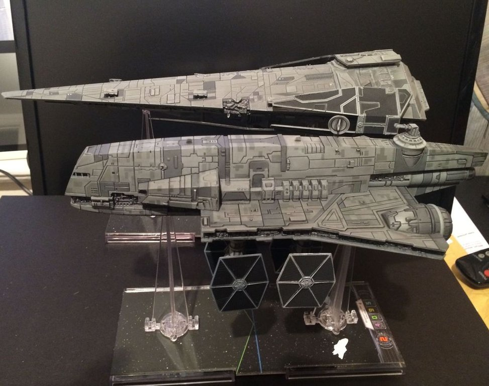 Star Wars: X-Wing Miniatures Game - Imperial Assault Carrier Expansion Pack miniatures