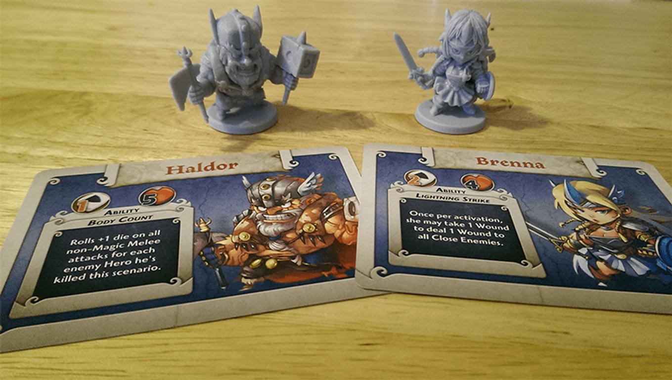 Arcadia Quest: Haldor & Brenna components