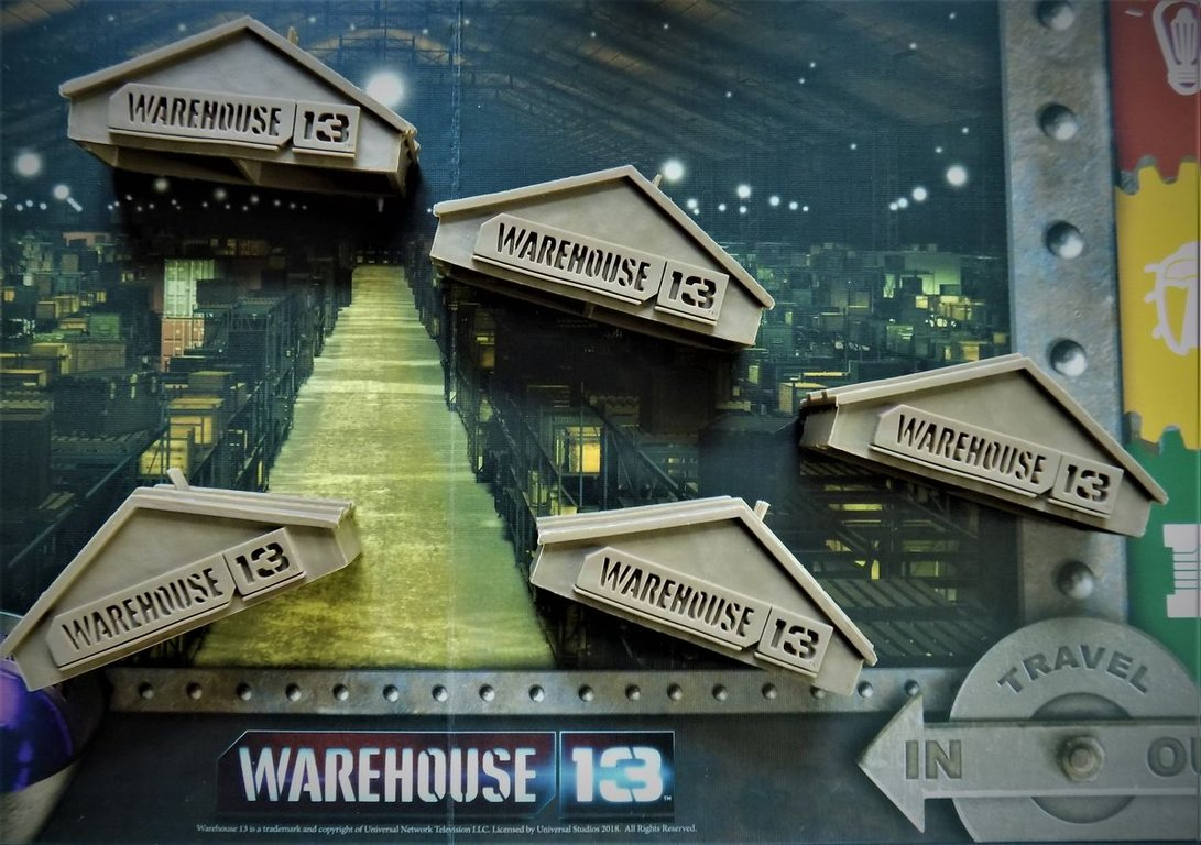 Warehouse 13: The Board Game components