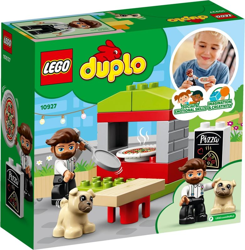 LEGO® DUPLO® Pizza Stand back of the box