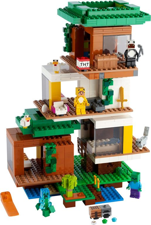 LEGO® Minecraft The Modern Treehouse components