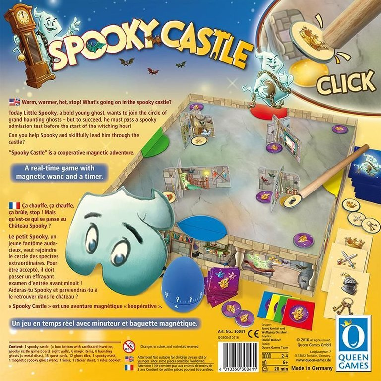Spooky Castle back of the box