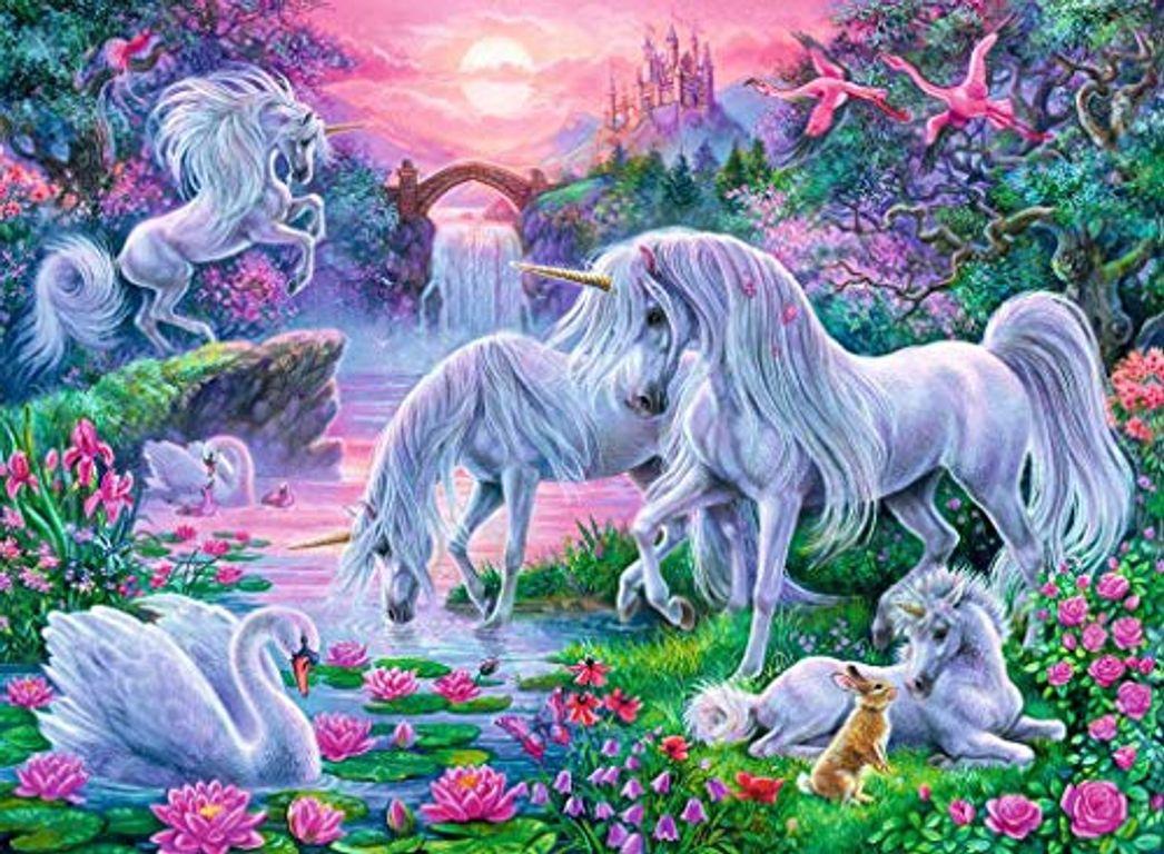 Unicorns in Sunset