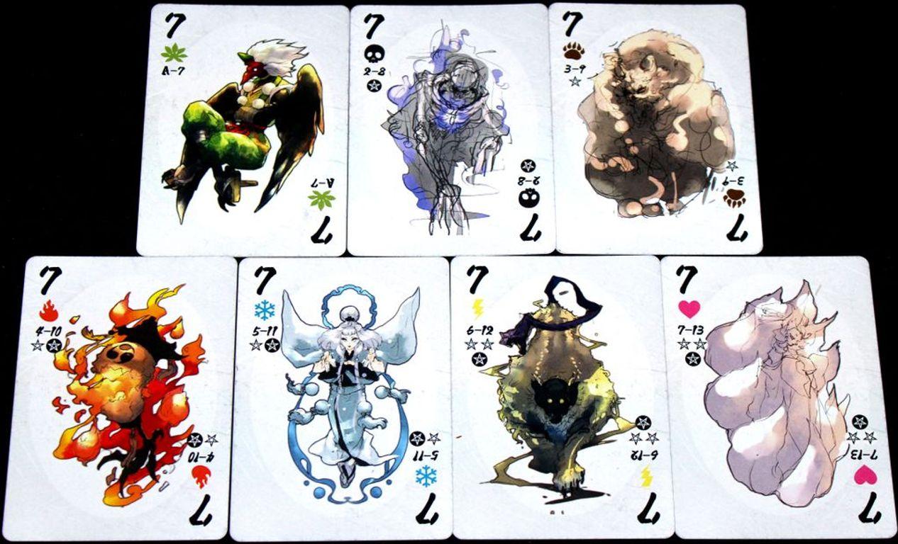 Yokai Septet cards
