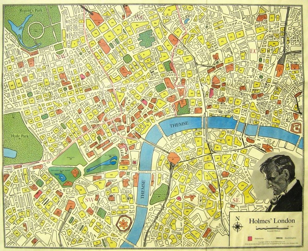 Sherlock Holmes Consulting Detective game board