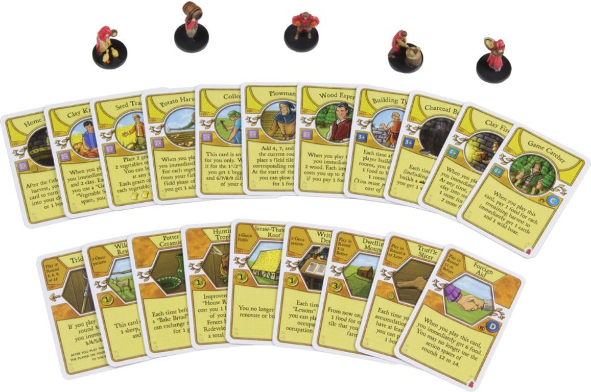Agricola Game Expansion: Red cards