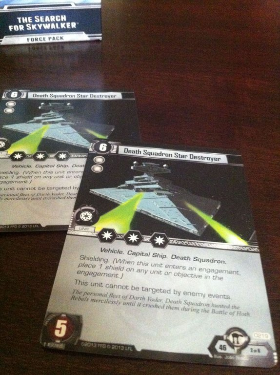 Star Wars: The Card Game - The Search for Skywalker cards