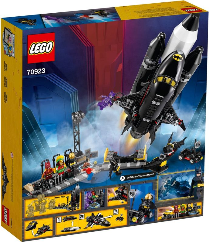 The Bat-Space Shuttle back of the box