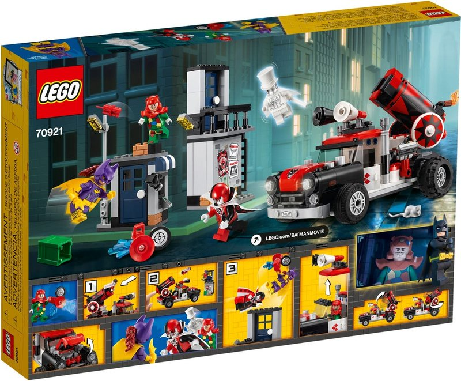 LEGO® Batman Movie Harley Quinn™ Cannonball Attack back of the box