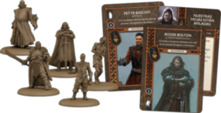 A Song of Ice & Fire: Tabletop Miniatures Game – Neutral Heroes I components