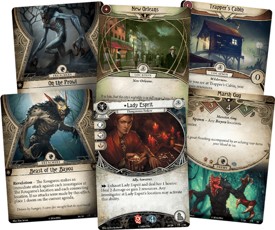 Arkham Horror: The Card Game - Curse of the Rougarou - Scenario Pack cards