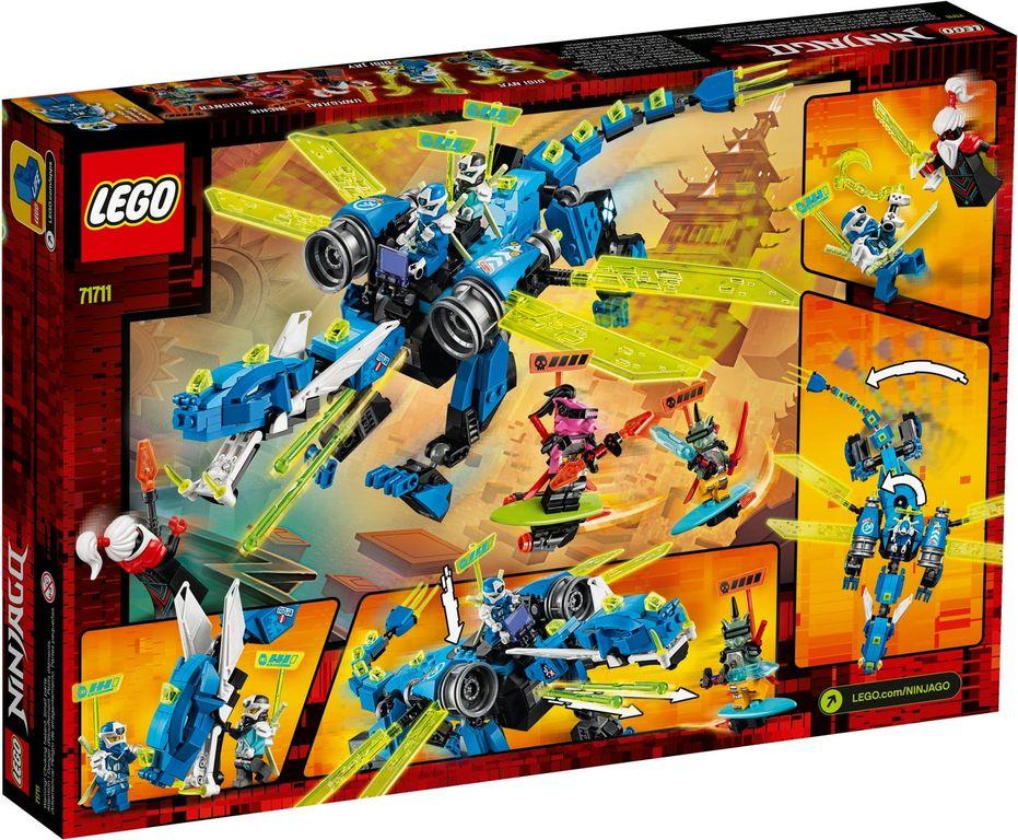 LEGO® Ninjago Jay's Cyber Dragon back of the box