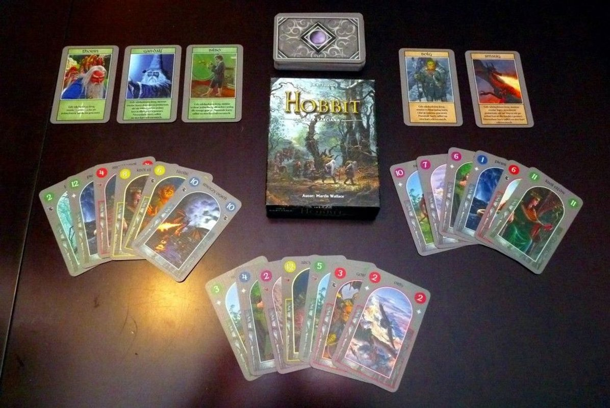 The Hobbit Card Game components