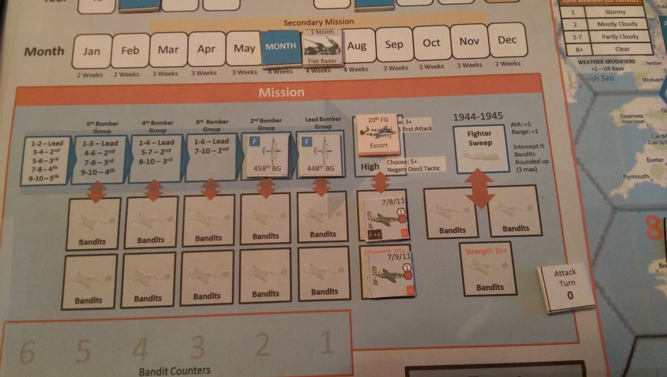 B-17 Flying Fortress Leader game board