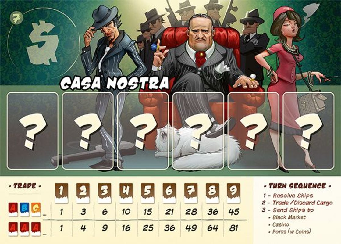 Cargo Noir game board