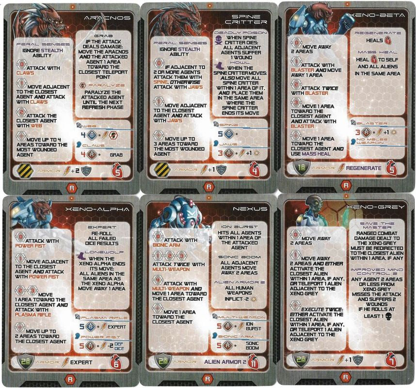 Galaxy Defenders: Elite Alien Army cards