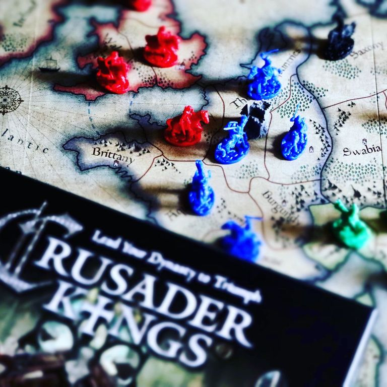 Crusader Kings: The Boardgame components