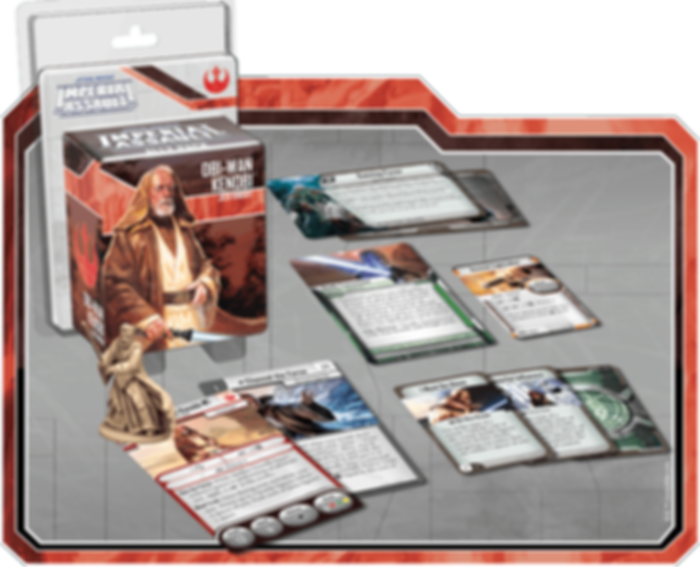 Star Wars: Imperial Assault - Obi-Wan Kenobi Ally Pack components