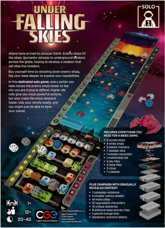 Under Falling Skies back of the box