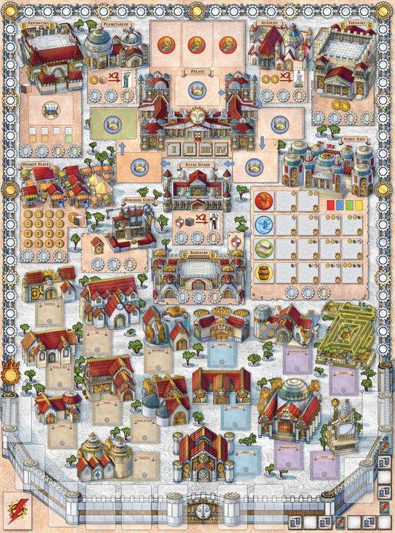Archon: Glory & Machination game board