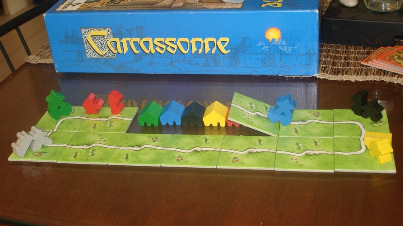 Carcassonne: Abbey & Mayor components
