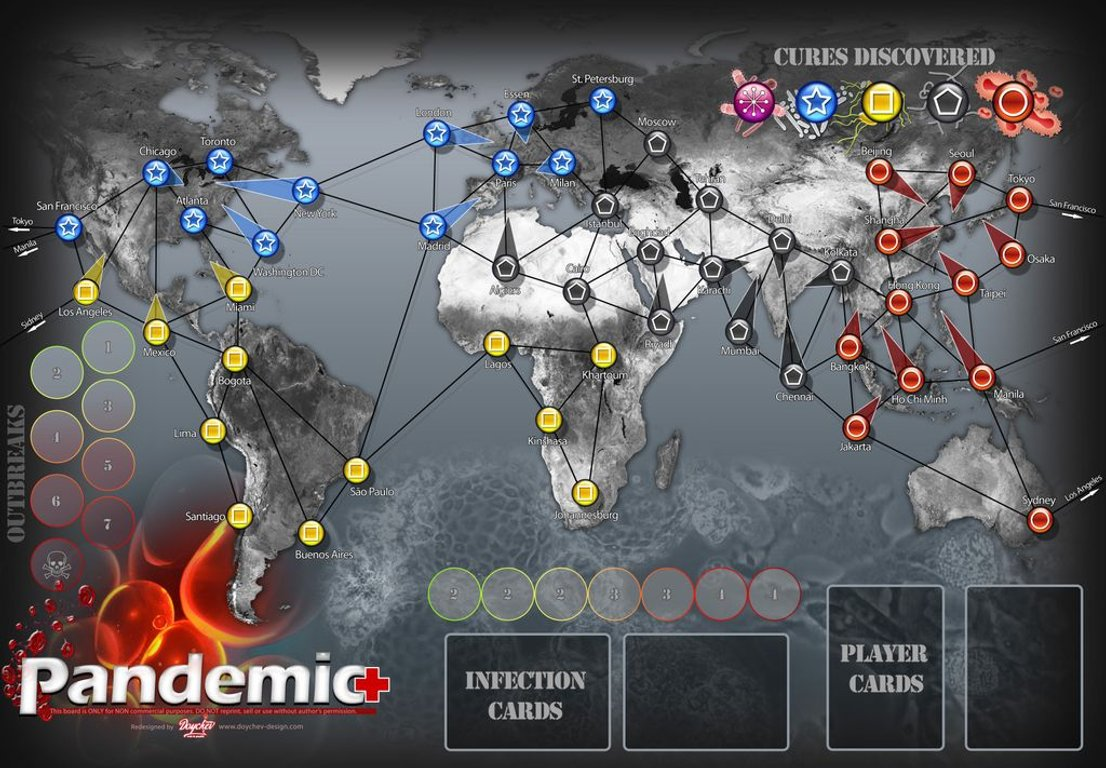 Pandemic: On the Brink game board