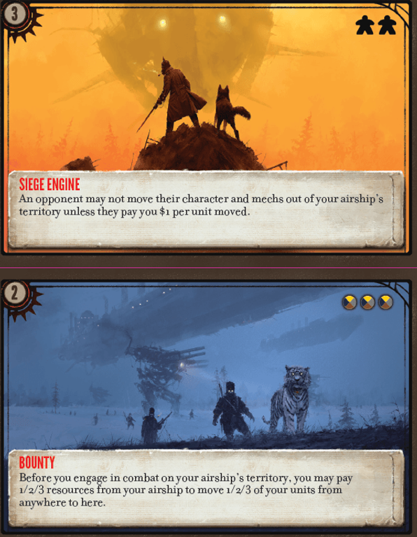 Scythe: The Wind Gambit cards