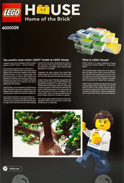 Lego House Tree of Creativity back of the box
