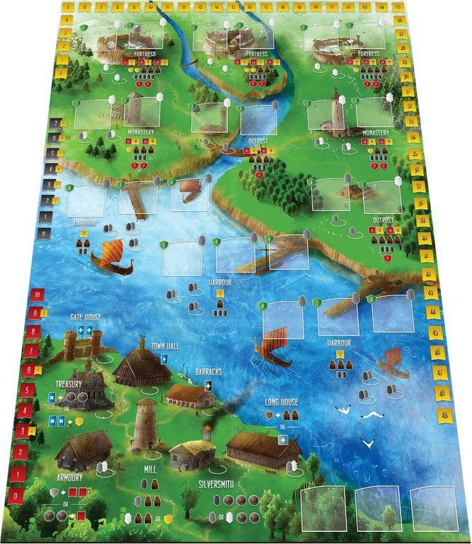 Raiders of the North Sea game board