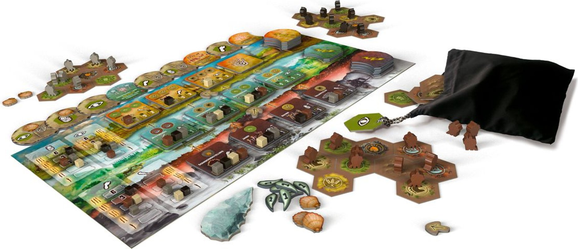 Tribes: Dawn of Humanity components