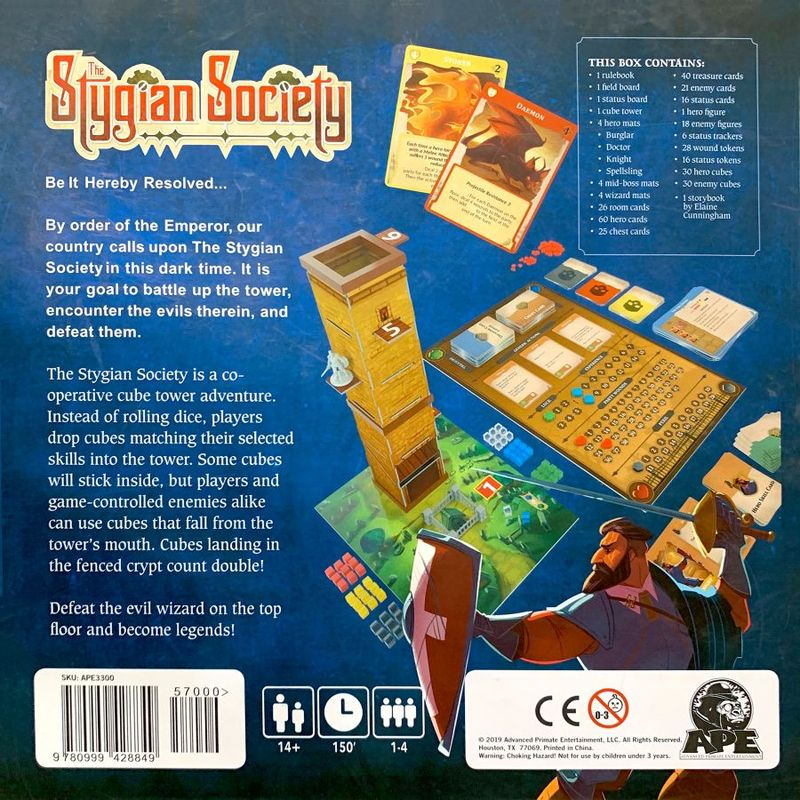 The Stygian Society back of the box