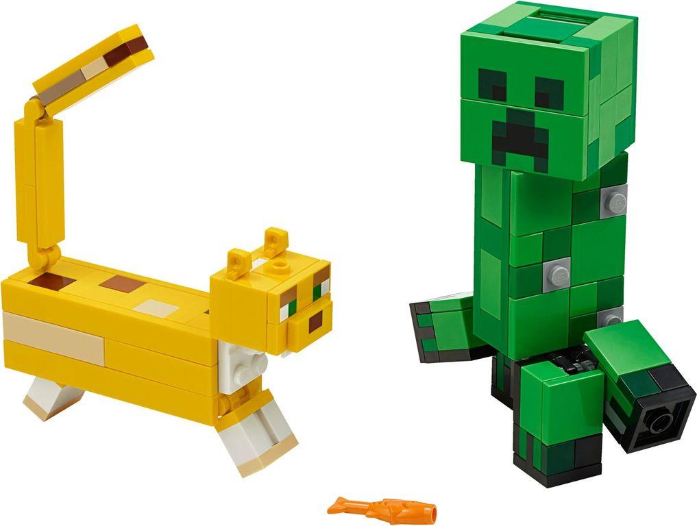 LEGO® Minecraft BigFig Creeper™ and Ocelot components