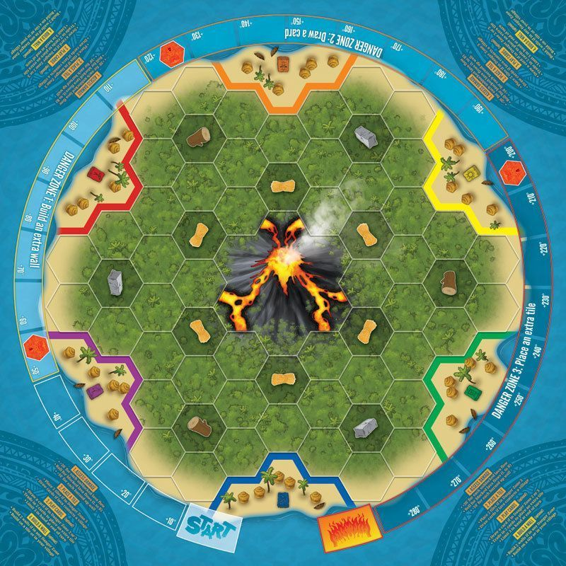 Eruption game board