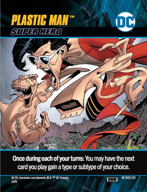 DC Comics Deck-Building Game: Dark Nights - Metal Plastic man card