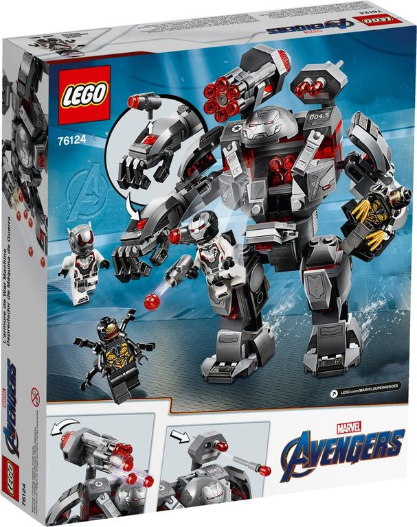 LEGO® Marvel War Machine Buster back of the box