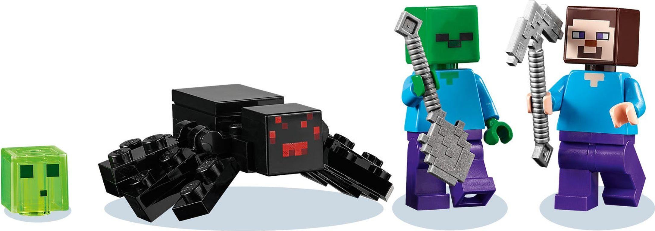 """LEGO® Minecraft The """"Abandoned"""" Mine minifigures"""