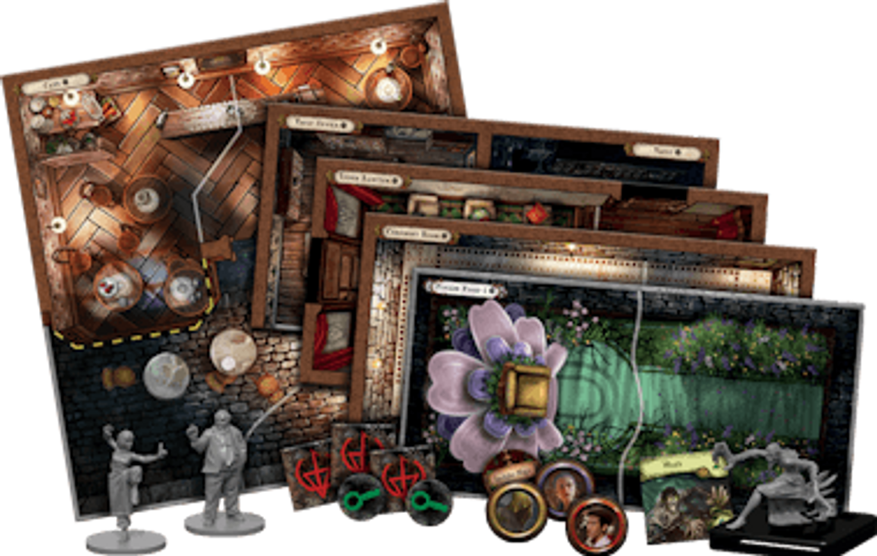Mansions of Madness: Second Edition - Sanctum of Twilight components
