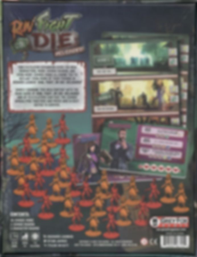 Run Fight or Die: Reloaded – 5-6 Player Expansion rückseite der box
