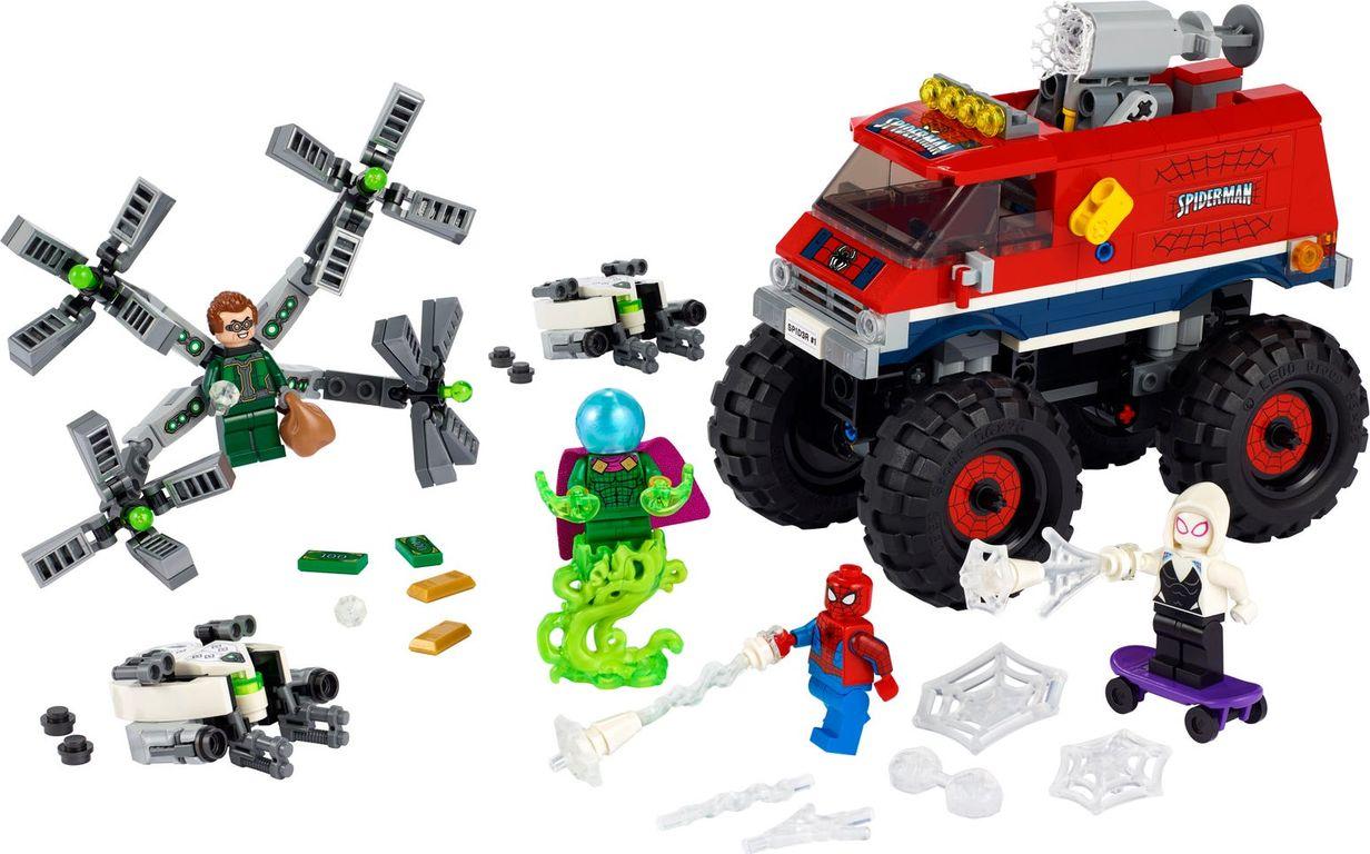 LEGO® Marvel Spider-Man's Monster Truck vs. Mysterio components
