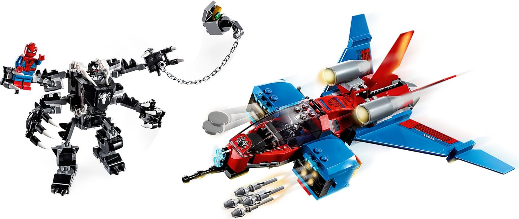 Spiderjet vs. Venom Mech gameplay