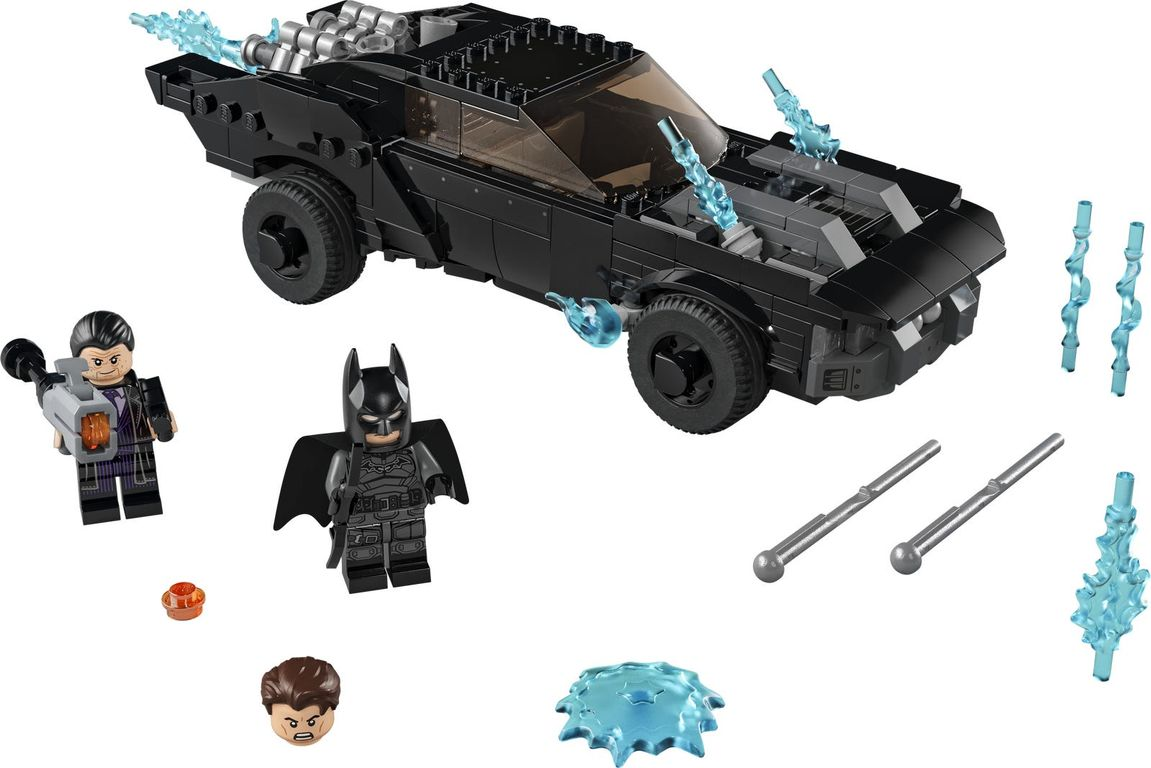 LEGO® DC Superheroes Batmobile™: The Penguin™ Chase components