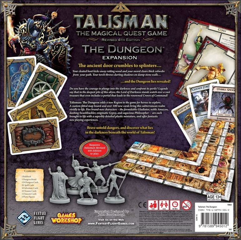 Talisman (Revised 4th Edition): The Dungeon Expansion back of the box