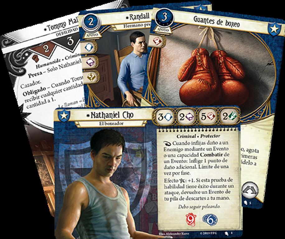 Arkham Horror: The Card Game - Nathaniel Cho: Investigator Starter Deck cards