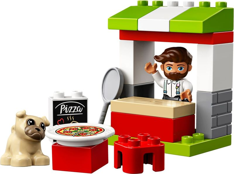 LEGO® DUPLO® Pizza Stand components